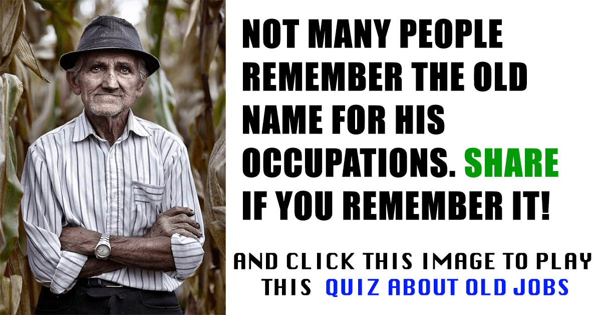 Quiz about old jobs!