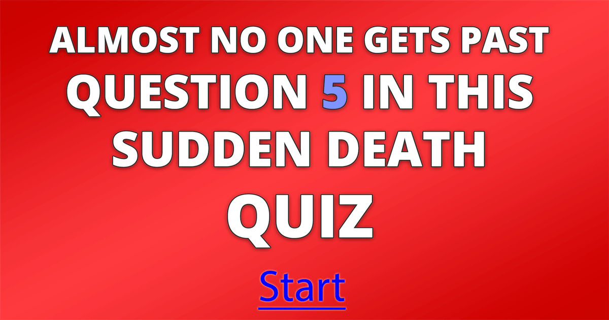 Sudden Death general knowledge quiz