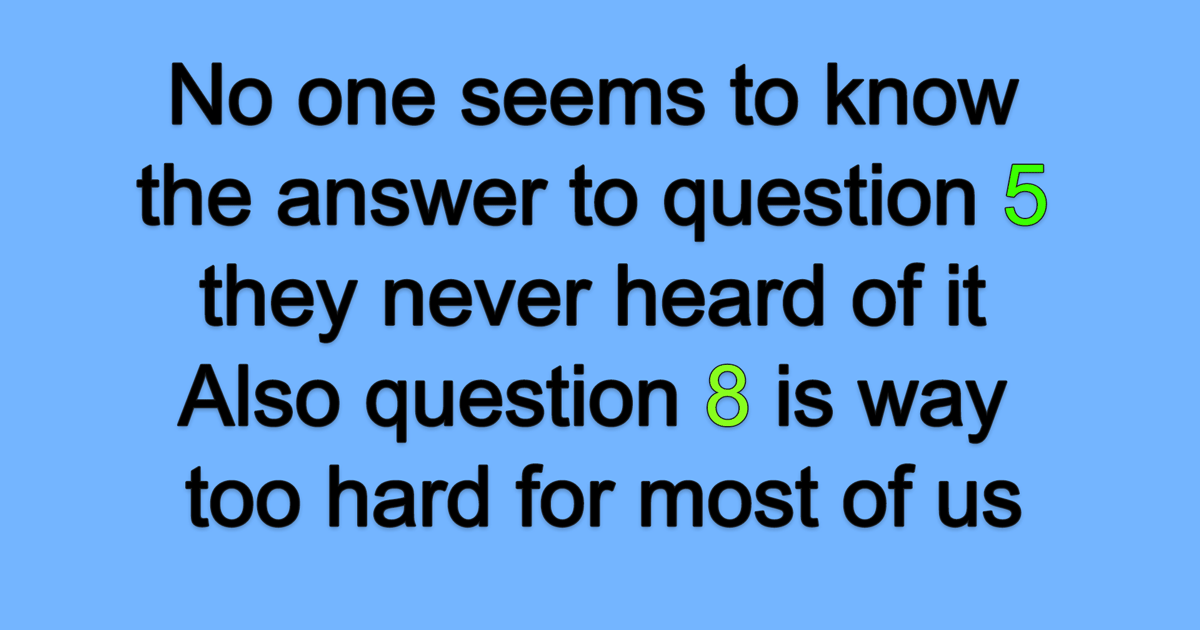 No one seems to know the answer