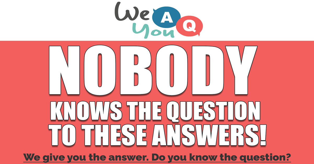 We Answer, You Question!