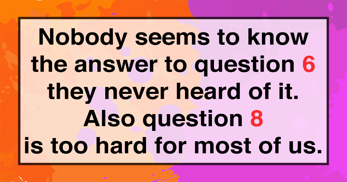 Impossible Knowledge Test