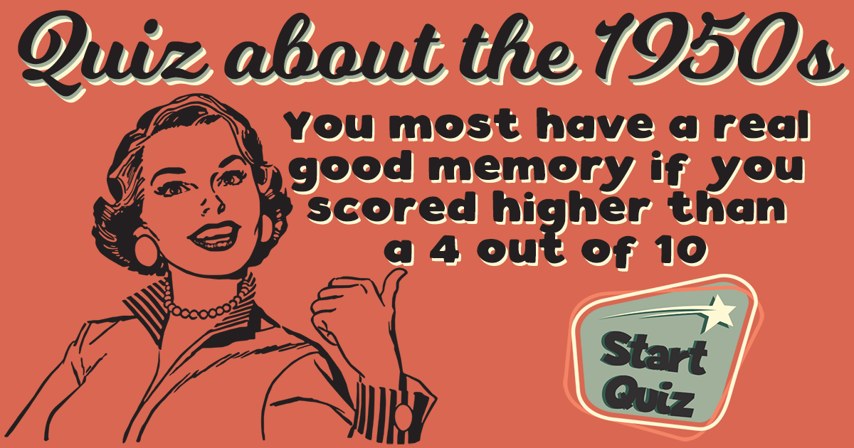 Hard Quiz About The 1950s
