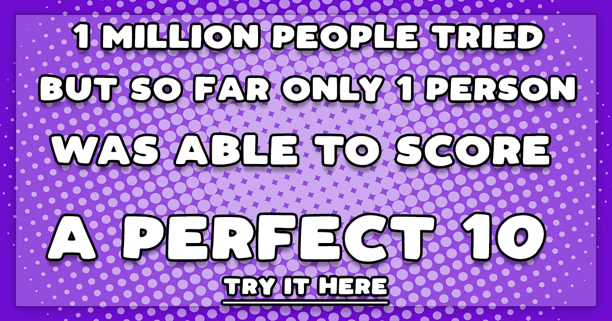 Are you smarter than 1 million people? Prove it!