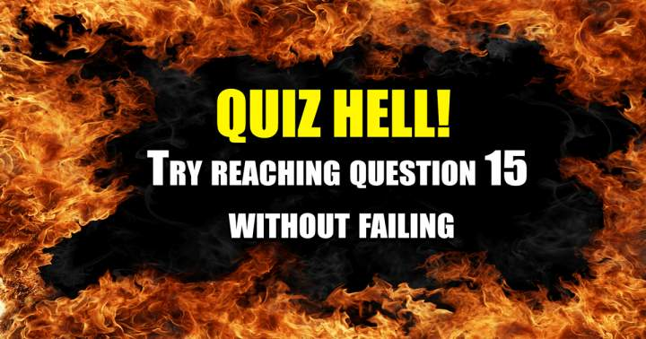 This sudden death quiz is impossible!